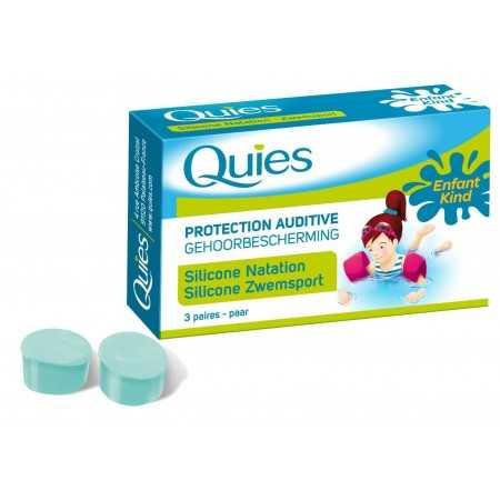 QUIES SILICONE NATATION ENFANT 3 PAIRES