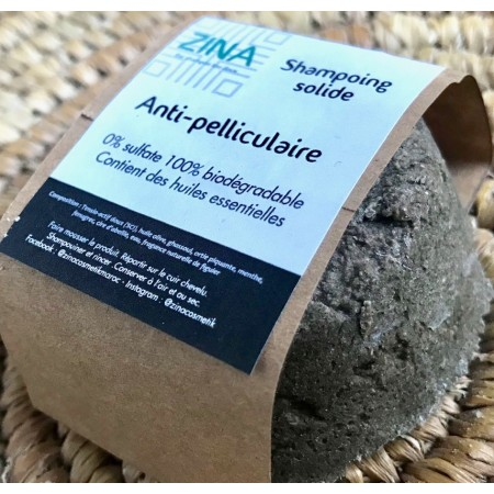 ZINA COSMETICS  SHAMPOING SOLIDE ANTI-PELLICULAIRE