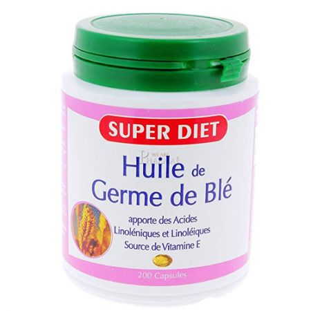 Super Diet Huile de Germe de Blé 200 Capsules