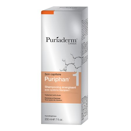 PURIADERM PURIPHAN1 SHAMPOOING ÉNERGISANT, HOMMES – FEMMES.