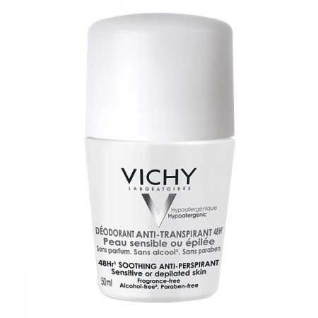 VICHY Déodorant ANTI-TRANSPIRANT 48h - Bille Peau sensible ou épilée