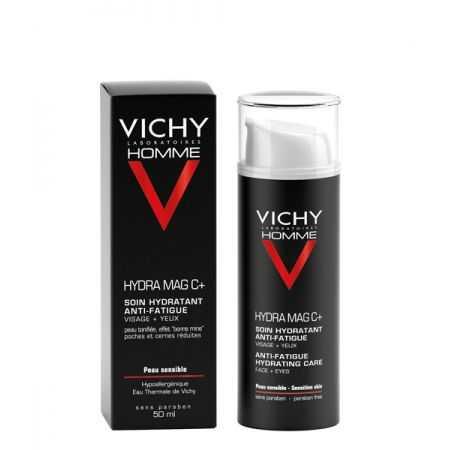 VICHY HOMME HYDRA MAG C + - Soin hydratant anti-fatigue Visage + Yeux