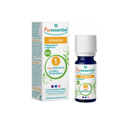 PURESSENTIEL Huile essentielle bio Géranium - flacon de 5 ml