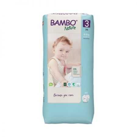 BAMBU NATURE COUCHES BEBE 3 , 4-8 KG/52 UNITES