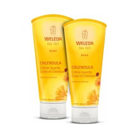 WELEDA Duo crème lavante corps et cheveux au Calendula bébé 2 x 200ml