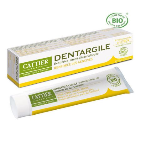 CATTIER Dentargile Citron - Dentifrice bio 75ml