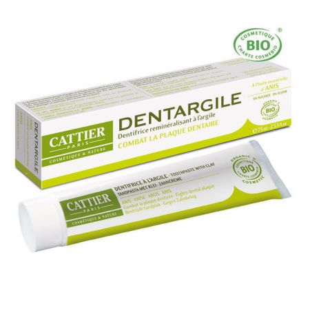 CATTIER Dentargile Anis - Dentifrice bio  75ml