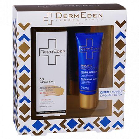 Dermeden - COFFRET - DD Cream Spf 50, 50ml + Masque Exfoliant Detox offert, 50ml
