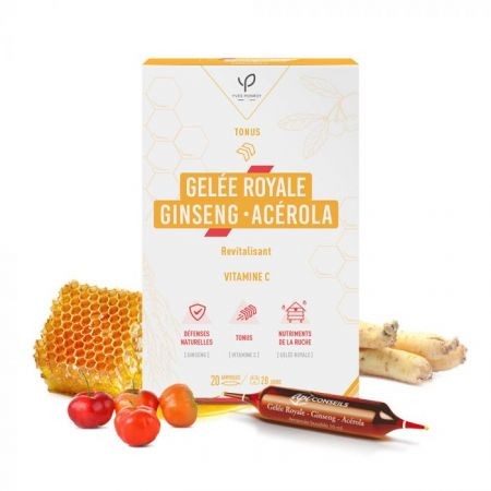 YVES PONORY GELEE ROYALE GINSENG-ACEROLA 20 AMPOULES