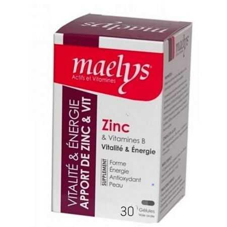 MAELYS ZINC & VITAMINES B VITALITÉ 30 GÉLULES
