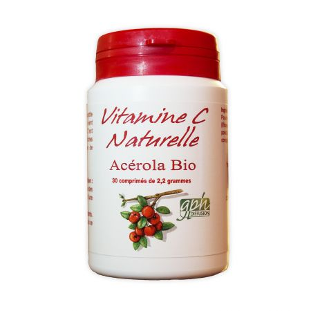 GPH Vitamine C Acérola Bio - 2.2g - 30 comprimés