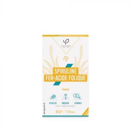 Spiruline - Fer - Acide folique - Yves Ponroy - 30 gelules
