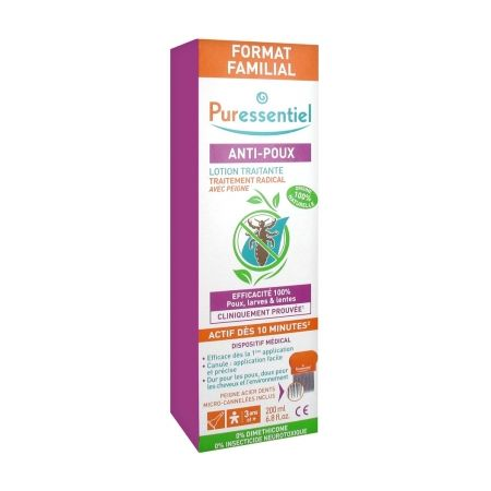 Puressentiel Anti-Poux Lotion Traitante 200 ml + Peigne