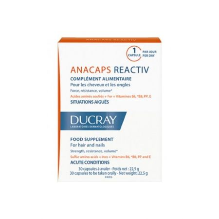 DUCRAY Anacaps Réactiv 30 Capsules