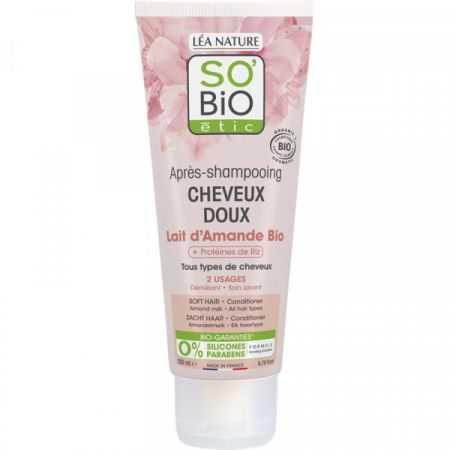 SO'BiO étic Après-shampooing cheveux doux Lait d'amande
