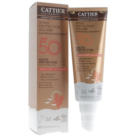CATTIER Spray protection solaire spf 50