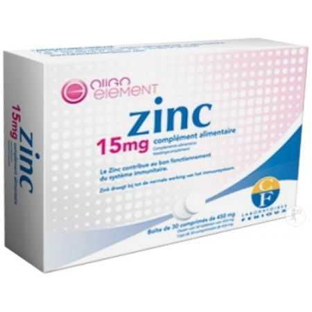 Fenioux Zinc 15mg Comprimés 30x450mg