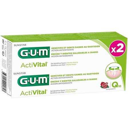 GUM Activital Dentifrice Q10 Lot de 2 x 75 ml