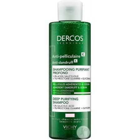 Vichy Dercos Anti-Pelliculaire Shampoing Purifiant Profond Flacon 250ml