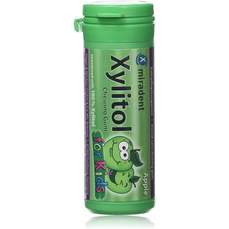 MIRADENT XYLITOL CHEWING GUM KIDS POMME