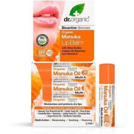 Dr Organic Baume à Lèvres au Miel de Manuka 5,7ml
