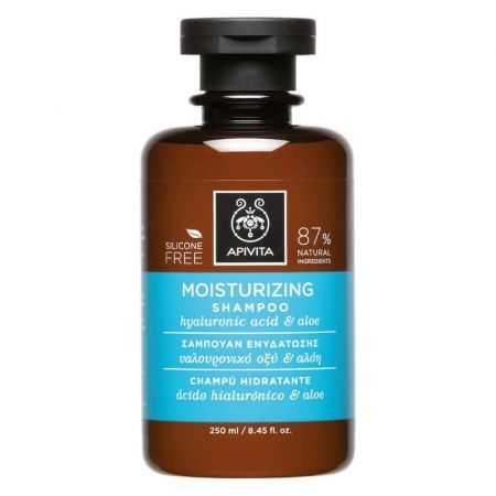Apivita Shampooing hydratant l'acide hyaluronique et aloès 250 ml