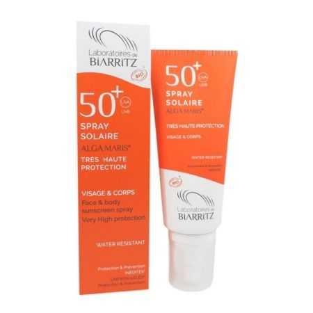 BIARRITZ ALGAMARIS Spray solaire SPF50+ certifié Bio