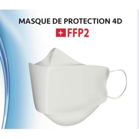 MASQUES 4D/FFP2 BOITE DE 10 MASQUES