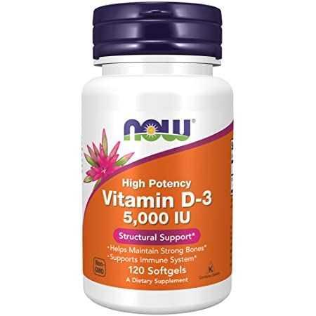NOW Vitamine D3 / 5000 UI - 120 Gélules