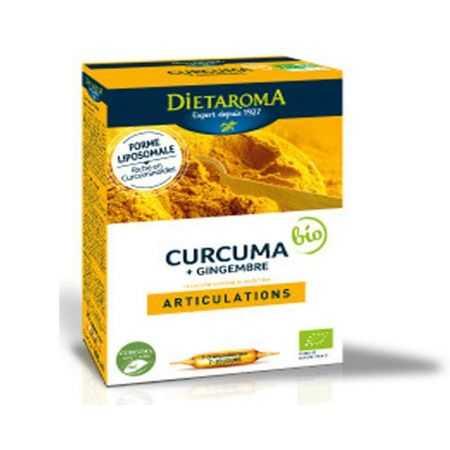 DIETAROMA Curcuma + Gingembre - 20 Ampoules