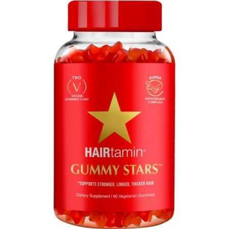 HAIRTAMIN Gummy Stars - 60 Gummies