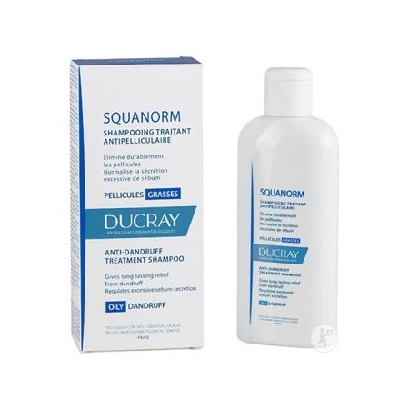DUCRAY SQUANORM SHAMPOOING PELLICULES GRASSES 125ML